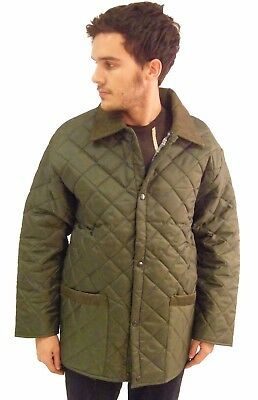 Campbell Cooper Brand New Adults Mens Green Quilted Horse Riding Jacket Coat