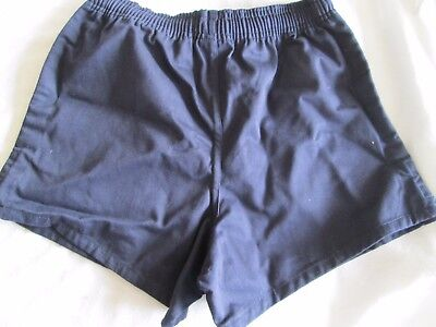"John Lewis / Banner cotton navy rugby shorts. Navy. 23-40"". New."