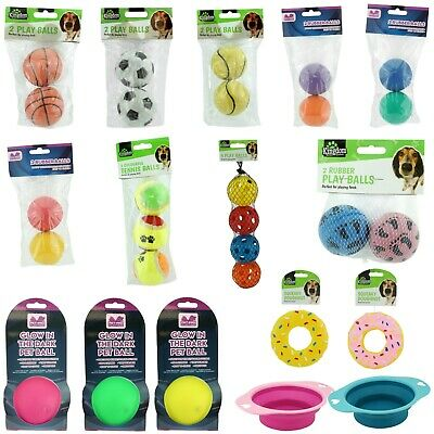 Dog Play Balls Rubber Chase Chew Fetch Bite Dog Toy Pet Dog Tennis Balls