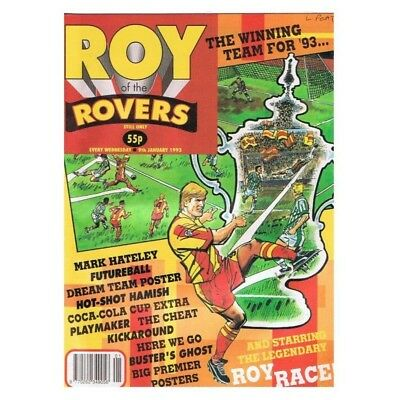 Roy of the Rovers Comic January 9 1993 MBox2798 The winning team for '93