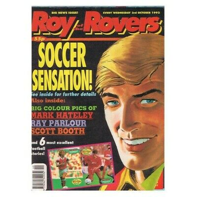 Roy of the Rovers Comic October 3 1992 MBox2798 Soccer Sensation! - Mark Hateley