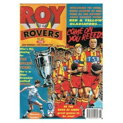 Roy of the Rovers Comic November 28 1992 MBox2798 Come on you Reeeds! - Who's pl