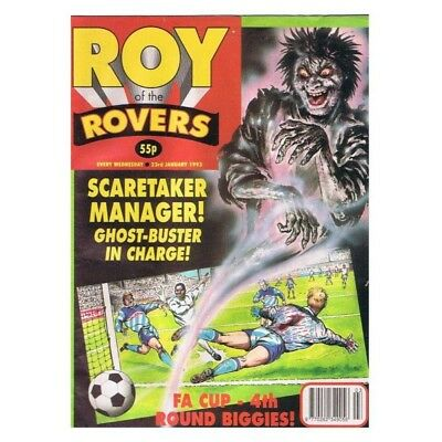 Roy of the Rovers Comic January 23 1993 MBox2798 Scaretaker Manager! Ghost-Buste