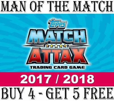 MAN OF THE MATCH Match Attax 2017/18 17/18 Cards