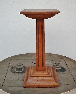 "Vintage, Art Deco, Wooden Hat Stand 9"" Fluted Column, Millinery Shop Display."