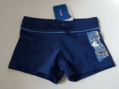 CHICCA BNWT Baby boys blue swimming shorts trunks lycra age 12-18 months
