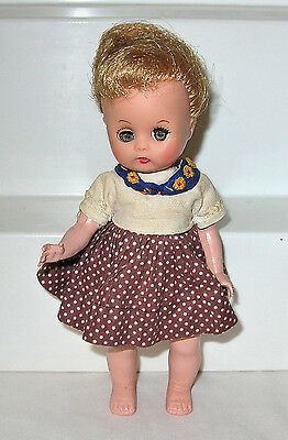 Vintage Marked Nancy Ann MUFFIE Doll from 1956 in Muffie Dress
