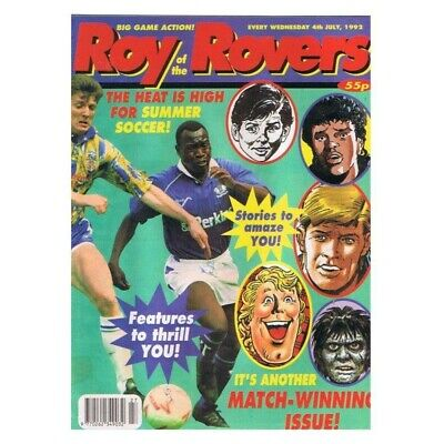 Roy of the Rovers Comic July 4 1992 MBox2798 The heat is high for the summer!