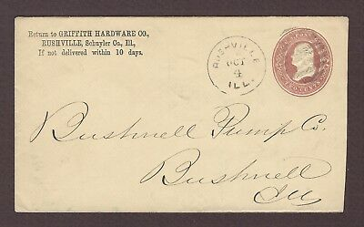 mjstampshobby 1887 US Famous Griffith Hardware Co Vintage Cover Used (Lot4792)