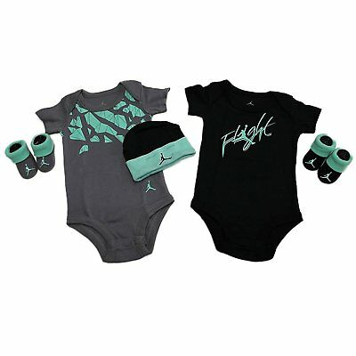 Nike JORDAN 5 Piece infant set Size 0-6 Months JOR461-023 Black