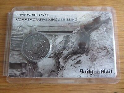 First World War Commemorative King's Shilling Coin by The Daily Mail WW1