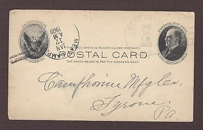 mjstampshobby 1908 US Post Card Vintage Used (Lot4890)