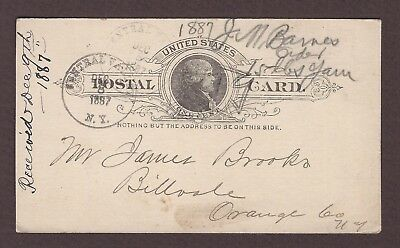 mjstampshobby 1887 US Post Card Vintage Used (Lot4892)