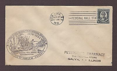 mjstampshobby 1932 US  Battle of Harlem Cover  Used VF Cond (Lot4126)