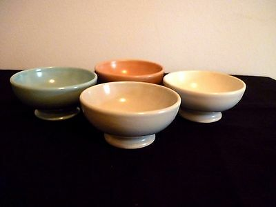 A Vintage Set Of 4 Flora Gouda Footed Nut/butter Dishes