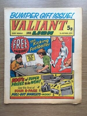 Valiant And Lion Comic 5/10/1974. The Bumper Gift Issue. Good Condition. IPC Mag