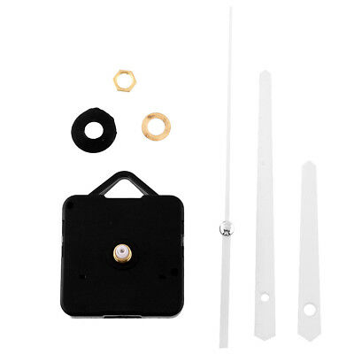 Classic Quiet Silent Quartz Clock Movement White Hands Parts Replacing Kit DIY