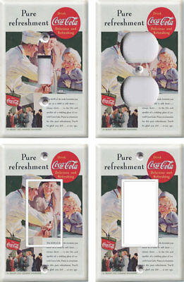 Vintage Coca-Cola Coke Ad - Light Switch Covers Home Decor Outlet