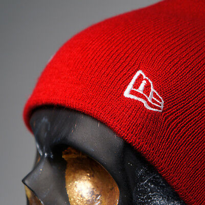 New Era Flag Phillies P Skully Knit Red Slouch Hat Urban Fitted Bboy Beanie Cap