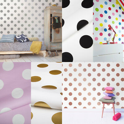 Dotty Paste The Wall Spot Print Wallpaper Bedroom Playroom