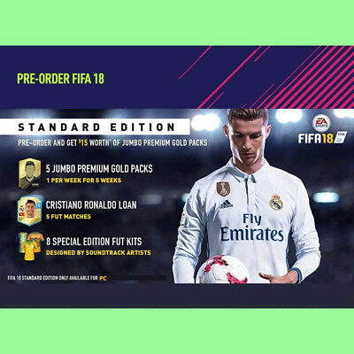 FIFA 18 PRE-ORDER Bonus Pack DLC CD Key - PC Spiel EA Origin Download code [DE]