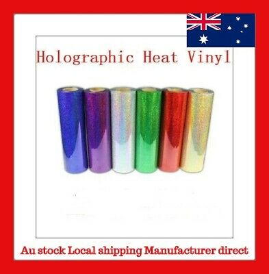 1m T-shirt Holographic Heat Transfer Vinyl Choose From 6 COLORS Laser Vinyl