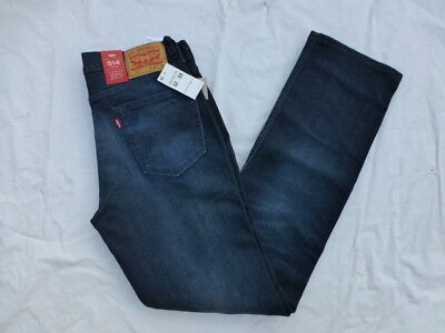 Nwt Mens 514 Levis Straight Fit Jeans $59 Dark Blue 00514-0725