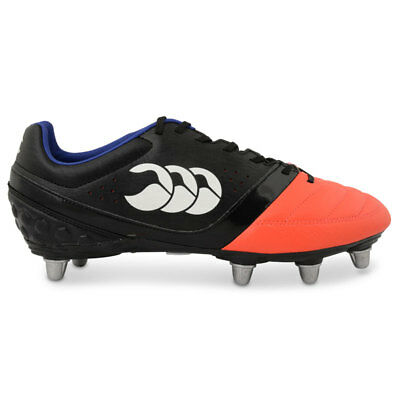 Canterbury CCC Adult Phoenix Club 8 Stud Rugby Boot (Black/Firecracker)