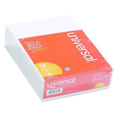 Universal® Scratch Pads, Unruled, 4 x 6, White, 100 Sheet Pads, 12 pack