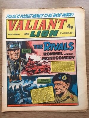 Valiant & Lion Comic 17/08/1974. Good Condition. IPC Mag