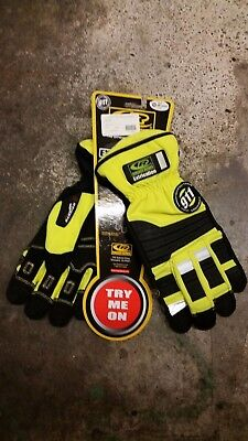 Ringers 911 Extrication Gloves. XXL, Safety Yellow