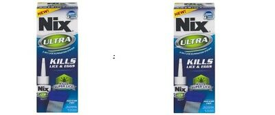 2 Nix Ultra 2-In-1 Lice Treatments Liquid Kills Lice And Eggs 3.4oz Ea 06/19