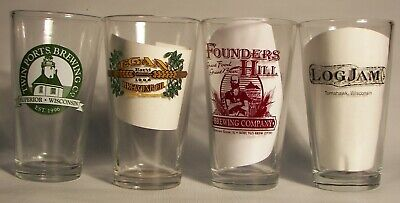 Closed micro beer, brewery pint glasses, your choice, pick 6