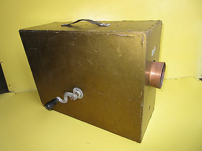 Antique Rotary Foghorn Norwegian in Wood Case Makes Noise Bent Handle