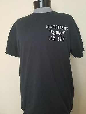 ~ Rare ~ Mumford & Sons  ~  Local Crew Concert  T-Shirt ~  Size Xl ~ Nice!