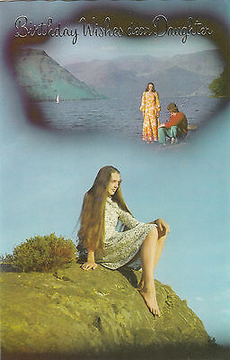 Quite Weird Happy Birthday Daughter Vintage 1970's Greeting Card - Daydreams 3