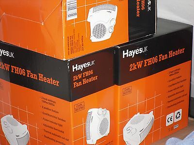 New, Boxed, HayesUK Fan Heaters, With cool air facility.