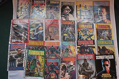 22 Terminator Comic Books from 1991 and 1992; collectable