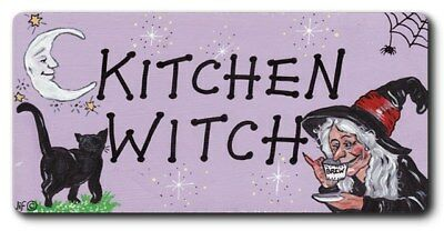 Kitchen Witch Fridge Magnet 5Cm Tall By 10Cm Frmag-Wp36*