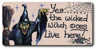 Yes The Wicked Witch Does Live Here! Fridge Magnet 5Cm Tall By 10Cm Frmag-Wp15*
