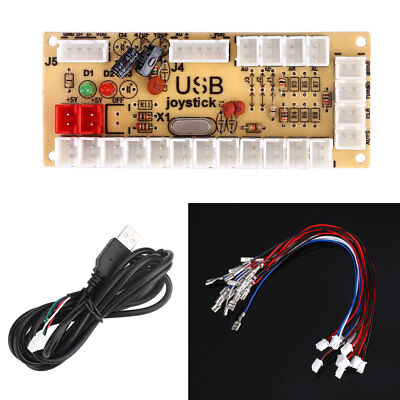 Zero Delay USB Encoder Joystick with 2Pin Cable For Arcade PC Gaming Fight Stick