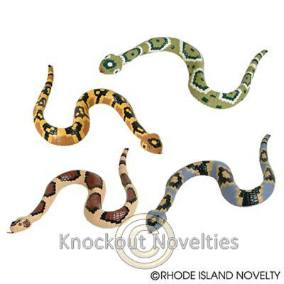 "12"" Rubber Rattlesnake Rattle Snake Long Realistic Gift Toy Assorted Snake"