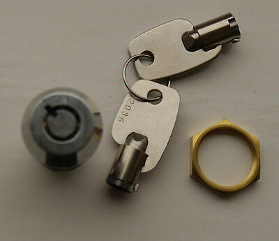 Tubular Stainless Steel Security Key Switch Spring Return, 1 Pole, 1 Position
