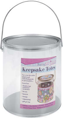 "Keepsake Totes Clear Paint Can 6.625""X7"" 121264"