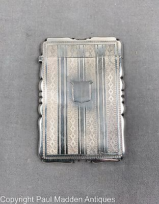 Antique American Coin Silver Card Case T.W. & Co.