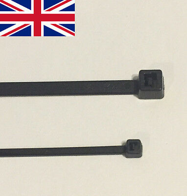 Black CABLE TIES Zip Tie Wraps 100mm 200mm 300mm x 100 x 1000 STOCK CLEARANCE UK