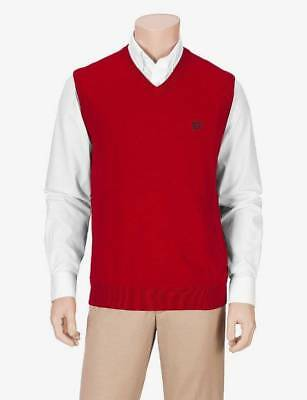 NWT $30-Boys Chaps Red Christmas Holiday Sweater Vest-size 4 & 6