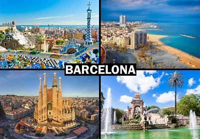 BARCELONA SPAIN TRAVEL SOUVENIR FRIDGE MAGNET #fm339