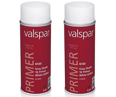 Valspar Automotive 1K OEM Primer Aerosol 400ml White x 2 Pack Auto Paint