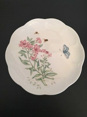 """Lenox Butterfly Meadow Plate """"Swallowtail"""" 9 1/8"""" Accent Luncheon Plate"""